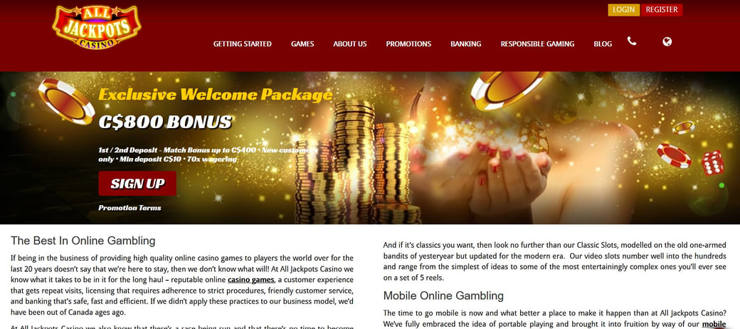 All Jackpots Website