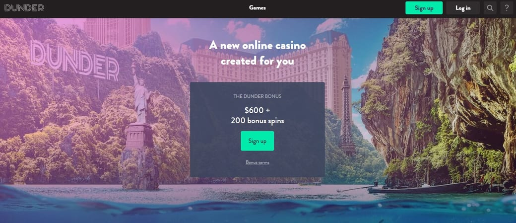 Dunder Casino Website