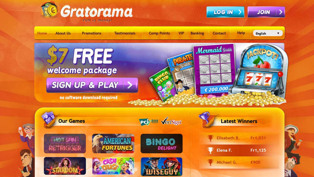 Gratorama Casino Website