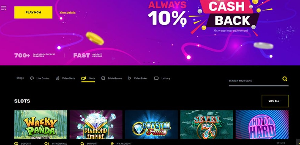 Hyper Casino Website