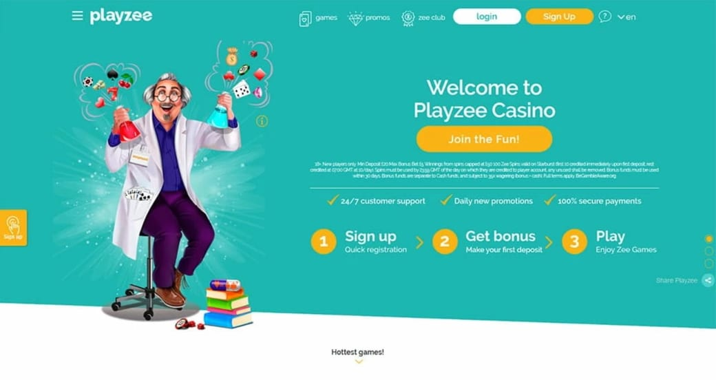 Playzee Casino Website