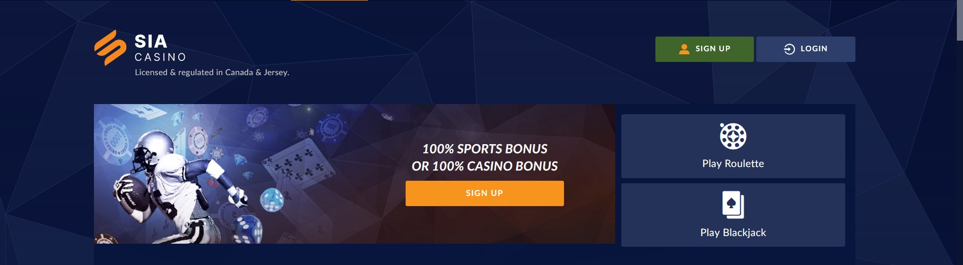 SIA Casino Website