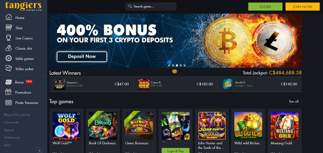 Tangiers Casino Website