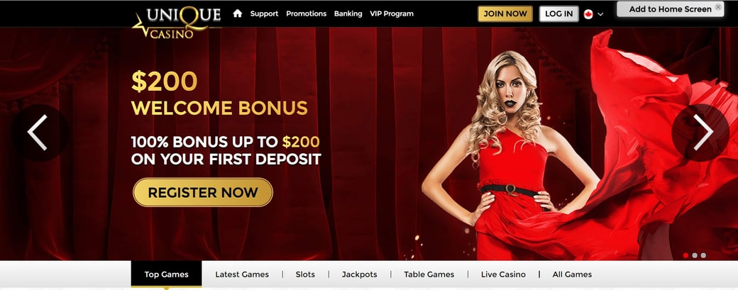 Unique Casino Website